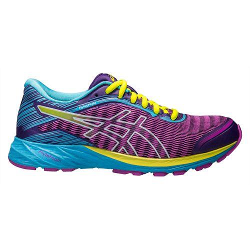 Womens ASICS DynaFlyte Running Shoe - Purple/Aqua 6.5