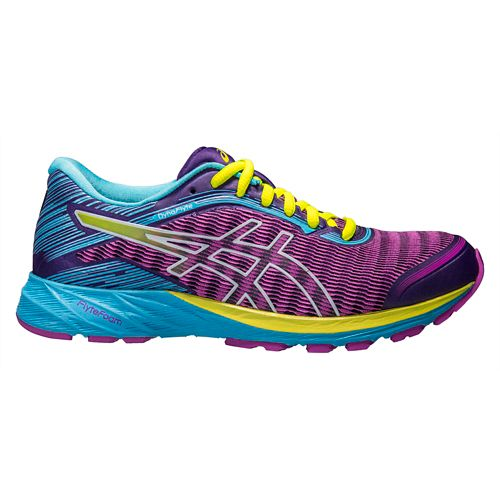 Womens ASICS DynaFlyte Running Shoe - Purple/Aqua 8.5