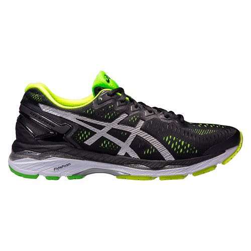 Mens ASICS GEL-Kayano 23 Running Shoe - Black/Safety Yelllow 8