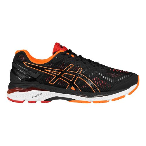 Mens ASICS GEL-Kayano 23 Running Shoe - Black/Orange 13