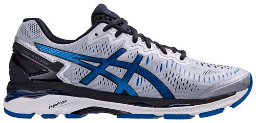 Mens ASICS GEL-Kayano 23 Running Shoe - Silver/Blue 12.5