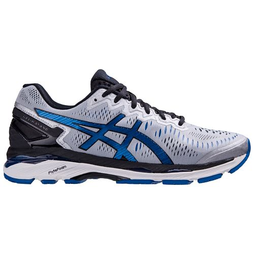 Mens ASICS GEL-Kayano 23 Running Shoe - Silver/Blue 12.5