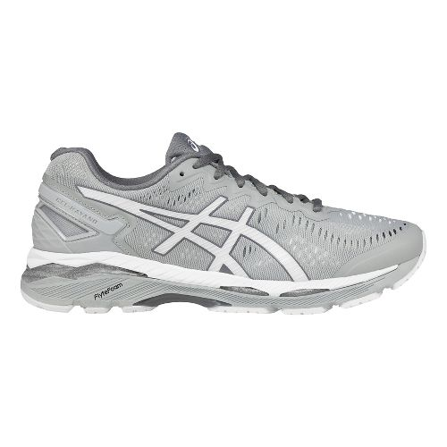 Mens ASICS GEL-Kayano 23 Running Shoe - Grey/White 7.5