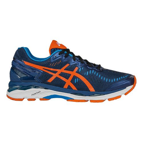 Mens ASICS GEL-Kayano 23 Running Shoe - Blue/Orange 9.5