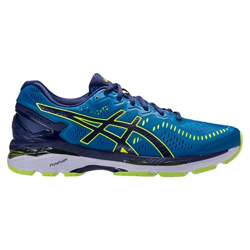 Mens ASICS GEL-Kayano 23 Running Shoe - Blue/Yellow 7.5
