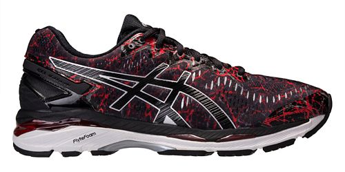 Mens ASICS GEL-Kayano 23 Running Shoe - Black/Red 9