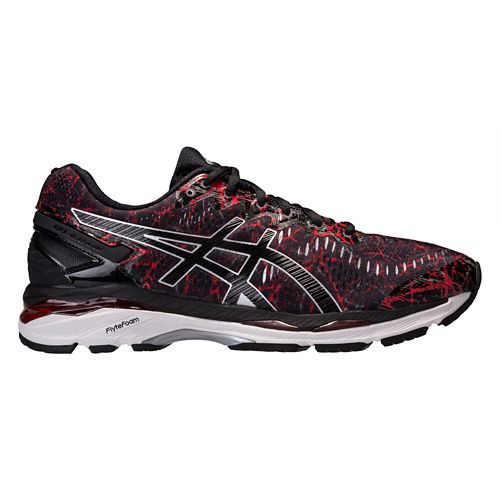 Mens ASICS GEL-Kayano 23 Running Shoe - Black/Red 9.5