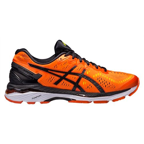 Mens ASICS GEL-Kayano 23 Running Shoe - Orange/Black 14