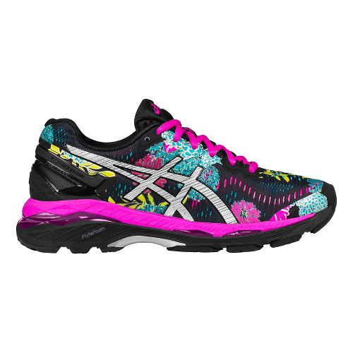 Womens ASICS GEL-Kayano 23 Running Shoe - Black/Pink 9