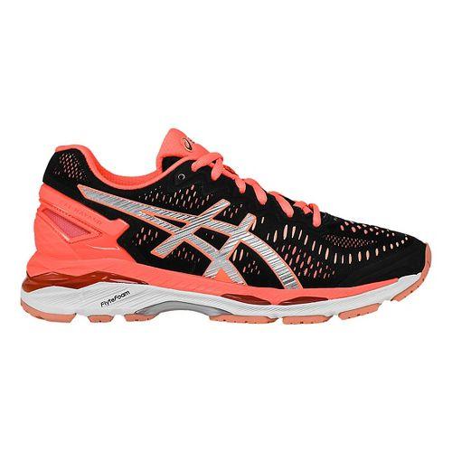 Womens ASICS GEL-Kayano 23 Running Shoe - Black/Silver 10