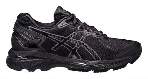 Womens ASICS GEL-Kayano 23 Running Shoe - Black/Grey 10
