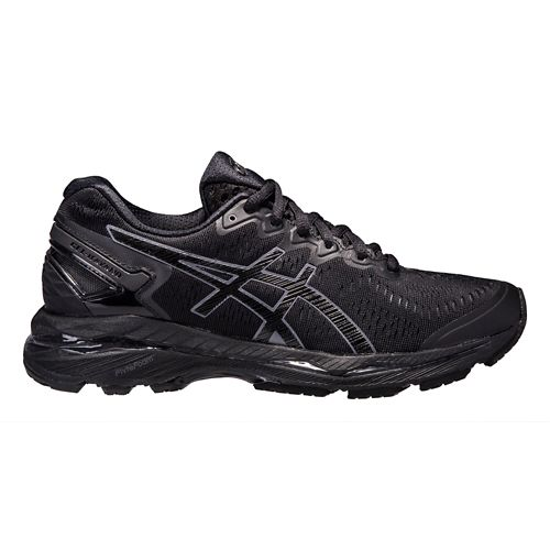 Womens ASICS GEL-Kayano 23 Running Shoe - Black/Grey 11