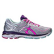 Womens ASICS GEL-Kayano 23 Running Shoe - Silver/Pink 10.5