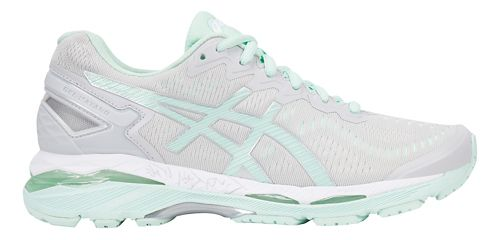 Womens ASICS GEL-Kayano 23 Running Shoe - Grey/Mint 12