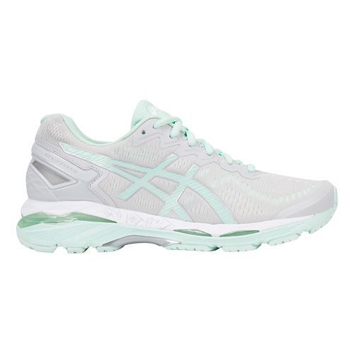 Womens ASICS GEL-Kayano 23 Running Shoe - Grey/Mint 12.5