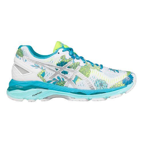 Womens ASICS GEL-Kayano 23 Running Shoe - White/Silver 10.5