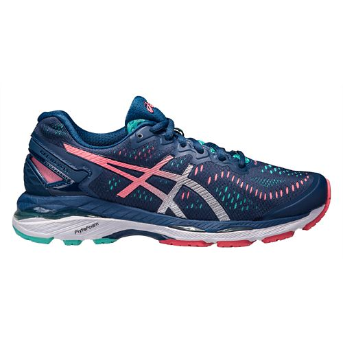 Womens ASICS GEL-Kayano 23 Running Shoe - Navy/Pink 10