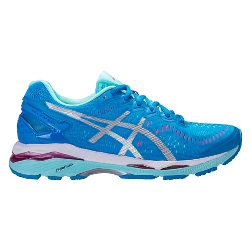 Womens ASICS GEL-Kayano 23 Running Shoe - Blue/Silver 8.5