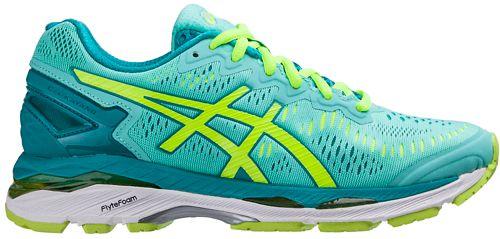 Womens ASICS GEL-Kayano 23 Running Shoe - Mint/Safety Yellow 7