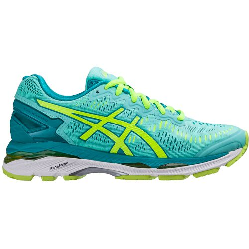 Womens ASICS GEL-Kayano 23 Running Shoe - Mint/Safety Yellow 10