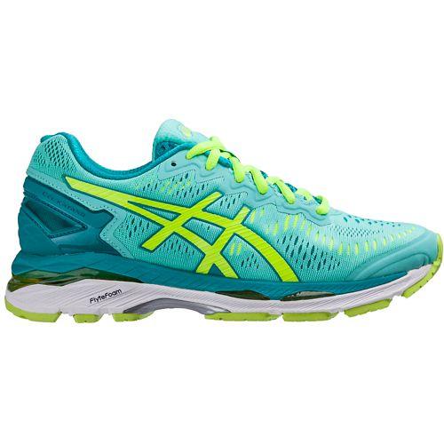 Womens ASICS GEL-Kayano 23 Running Shoe - Mint/Safety Yellow 10.5