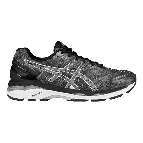Mens ASICS GEL-Kayano 23 Lite-Show Running Shoe - Carbon/Silver 10.5
