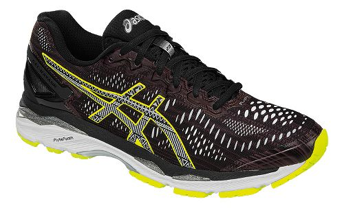 Mens ASICS GEL-Kayano 23 Lite-Show Running Shoe - Black/Yellow 8.5