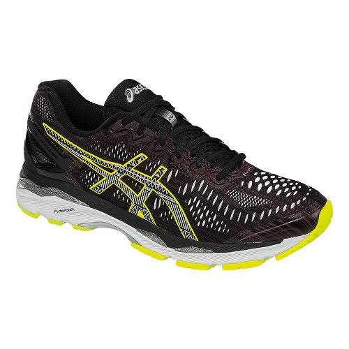 Mens ASICS GEL-Kayano 23 Lite-Show Running Shoe - Black/Yellow 12.5