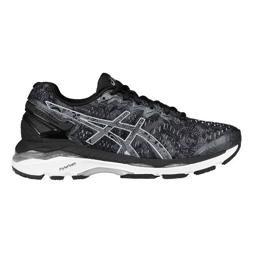 Womens ASICS GEL-Kayano 23 Lite-Show Running Shoe - Carbon/Silver 10