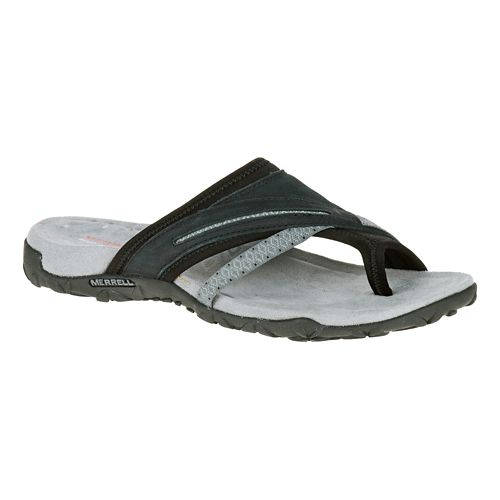 Womens Merrell Terran Post II Sandals Shoe - Black 10
