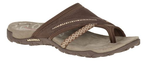 Womens Merrell Terran Post II Sandals Shoe - Dark Earth 11