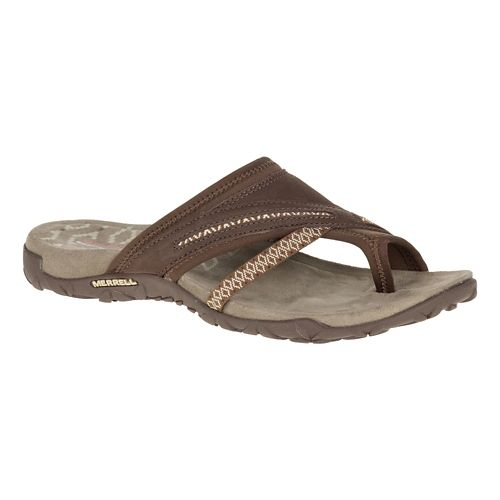 Womens Merrell Terran Post II Sandals Shoe - Dark Earth 5