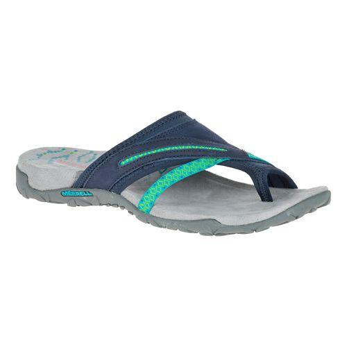 Womens Merrell Terran Post II Sandals Shoe - Navy 10