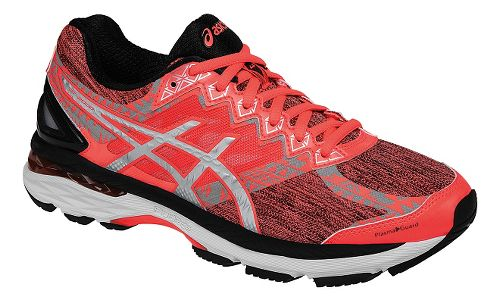 Womens ASICS GT-2000 4 Lite-Show PG Running Shoe - Coral/Black 10.5