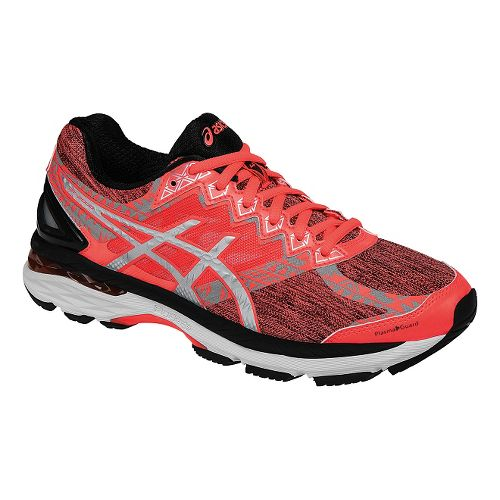 Womens ASICS GT-2000 4 Lite-Show PG Running Shoe - Coral/Black 6.5