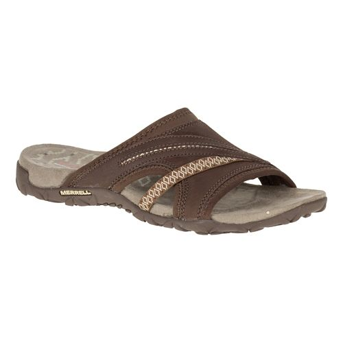 Womens Merrell Terran Slide II Sandals Shoe - Dark Earth 9