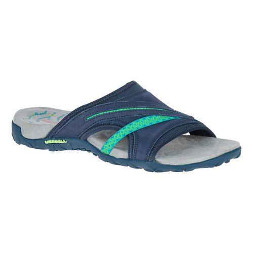 Womens Merrell Terran Slide II Sandals Shoe - Navy 5
