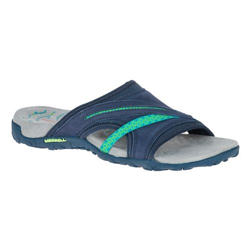 Womens Merrell Terran Slide II Sandals Shoe - Navy 8