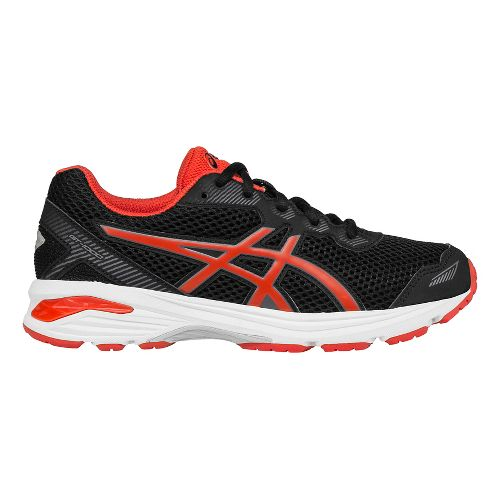 Kids ASICS GT-1000 5 Running Shoe - Black/Red 4.5Y