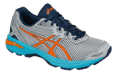 Kids ASICS GT-1000 5 Running Shoe - Grey/Orange 7Y