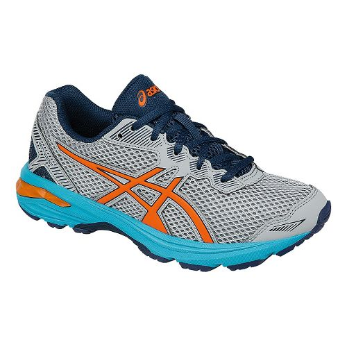 Kids ASICS GT-1000 5 Running Shoe - Grey/Orange 3.5Y