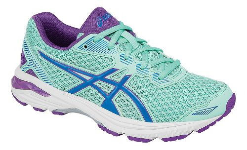 Kids ASICS GT-1000 5 Running Shoe - Mint/Purple 1.5Y