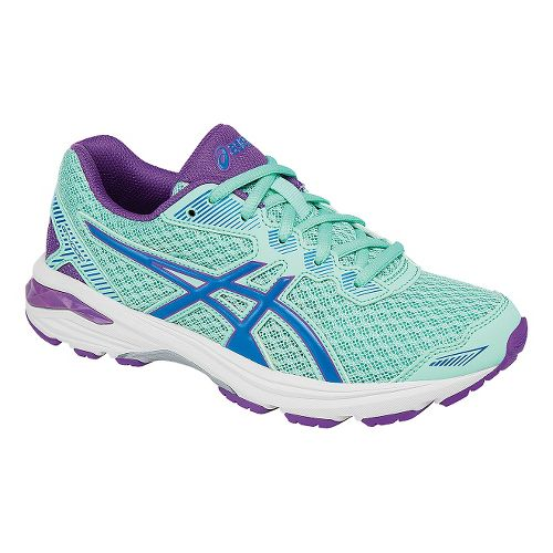 Kids ASICS GT-1000 5 Running Shoe - Mint/Purple 4Y