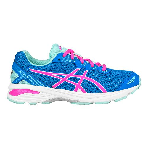 Kids ASICS GT-1000 5 Running Shoe - Blue/Pink 1.5Y