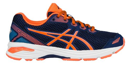 Kids ASICS GT-1000 5 Running Shoe - Blue/Orange 1Y