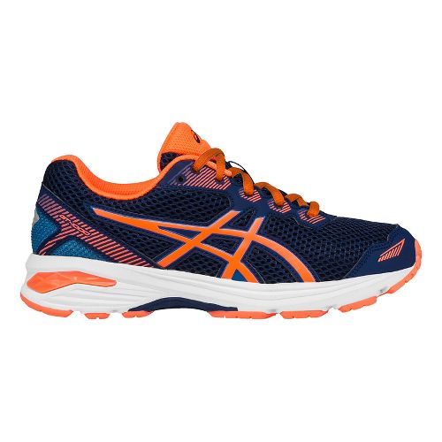 Kids ASICS GT-1000 5 Running Shoe - Blue/Orange 1.5Y