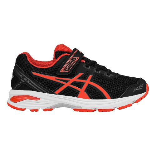 Kids ASICS GT-1000 5 Running Shoe - Black/Red 10C