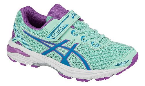 Kids ASICS GT-1000 5 Running Shoe - Mint/Purple 3Y