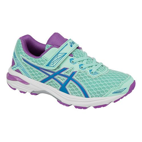 Kids ASICS GT-1000 5 Running Shoe - Mint/Purple 11C