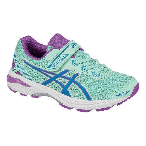 Kids ASICS GT-1000 5 Running Shoe - Mint/Purple 3Y